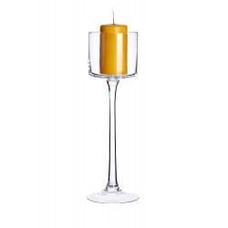 Świecznik na nodze szklany...